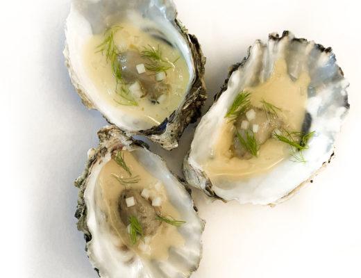 Pochierte Austern mit Apfel-Beurre-Blanc 1