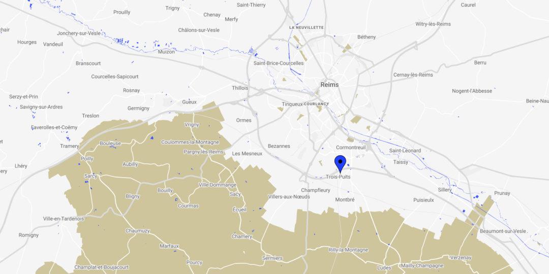 Karte/Standort Trois-Puits