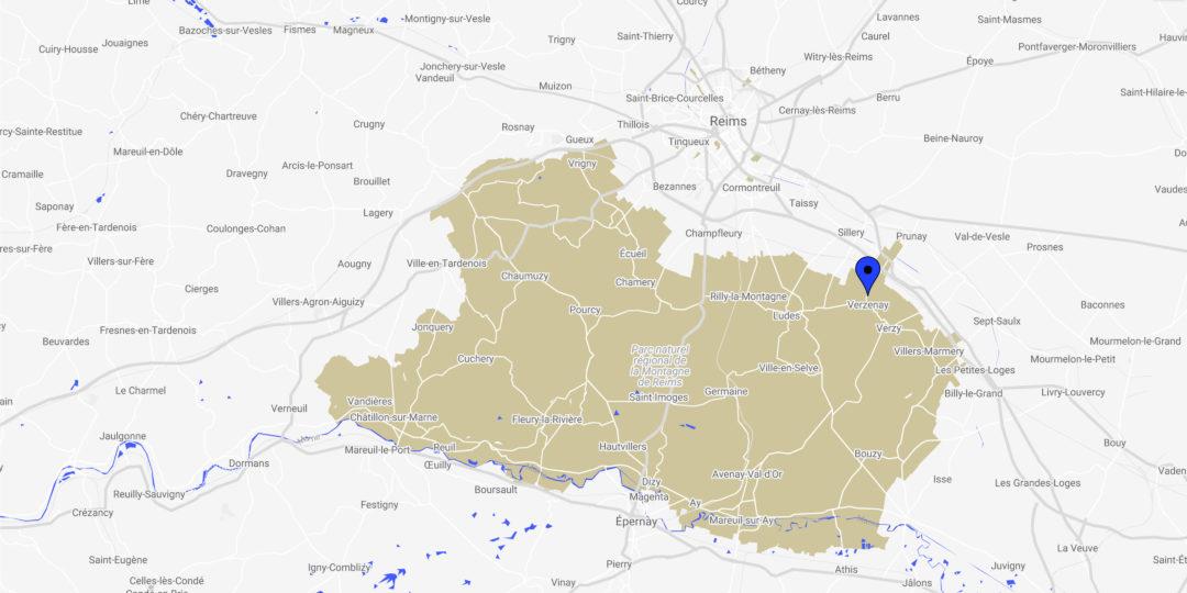 Karte/Standort Verzenay