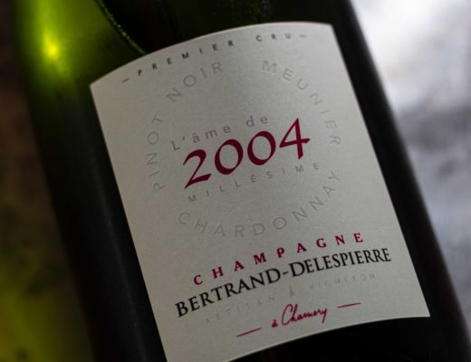 aMillésime 3 Cépages 2004 | Bertrand-Delespierre | Cuvée: Pinot Noir, Pinot Meunier, Chardonnay | Premier Cru Chamery | Montage de Reims
