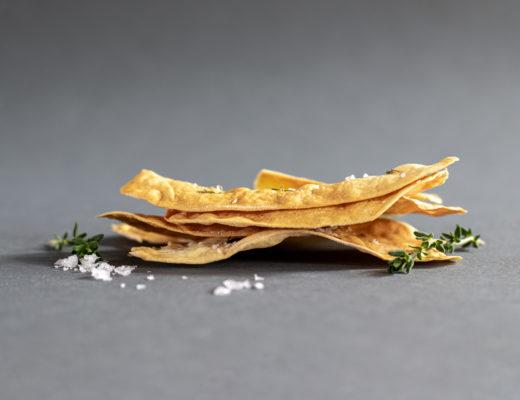Cracker mit Thymian und Fleur de Sel
