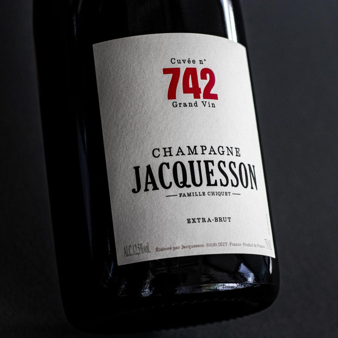 Jacquesson | Cuvée N° 742 | 57% Chardonnay | 21% Pinot Noir | 22% Pinot Meunier | Dizy